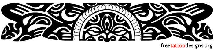 Polynesian Band Tattoo Designs | the Hawaiians and the other Polynesian islanders, an armband tattoo ...