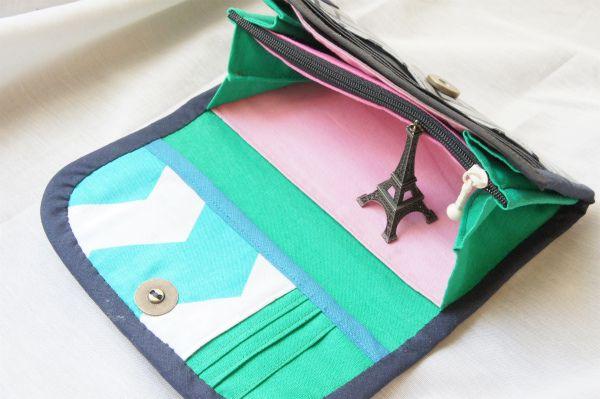 ordermade wallet grey:inside2 #handmade #wallet #ordermade #sewing