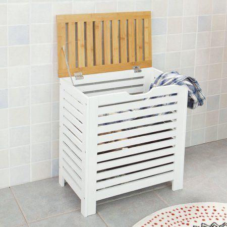 SoBuy Modern Laundry Basket ,Laundry Hampers,Laundry Bags (FSS48-WN)