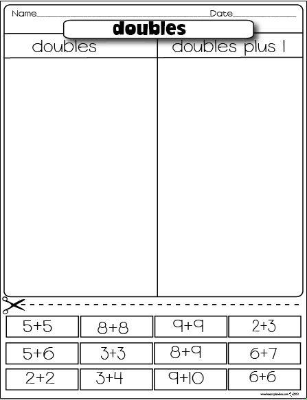 The Lesson Plan Diva: Freebies Doubles/Douobles plus 1