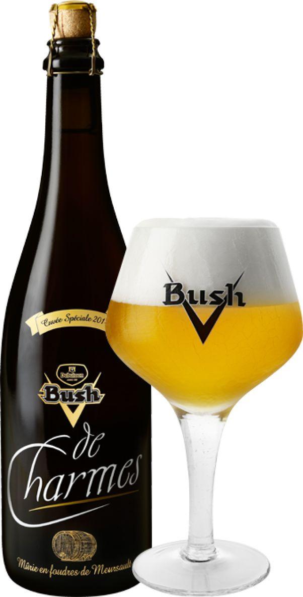 Bush de Charmes | Door de traditionele rijping op eikenhouten vaten waarin zich vroeger wijn bevond, ontwikkelt het bier een explosie van aroma's van wit en geel fruit met fl orale en citrustoetsen en vineuze impressies afkomstig uit de Chardonnay cepage. Kunst met een grote K ! Bush de Charmes is een uitzonderlijk bier door de verfi jnde smaak, de rijke aroma's, de exclusieve fles en de beperkte distributie. Aan tafel begeleidt de Bush de Charmes perfect zeevruchten en schaaldieren, vis in…