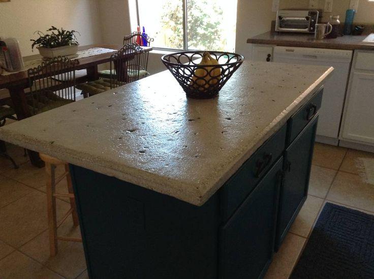 Concrete Countertop Island Directcolors Com Diy