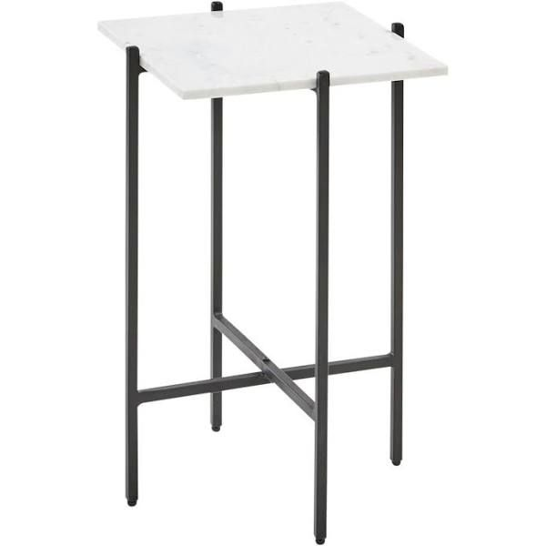 Black And White Marble End Table