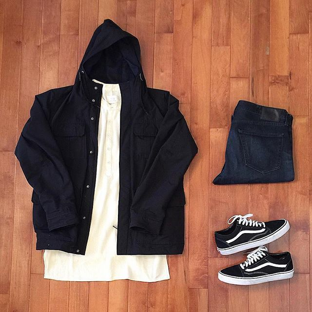 👍or👎: #WDYWTgrid by @sneakersnlifting #mensfashion #outfit #ootd 👕: #FearofGod #Uniqlo 👖: #AGJeans 👟: #Vans  #WDYWT for on-feet photos #WDYWTgrid for outfit lay down photos •