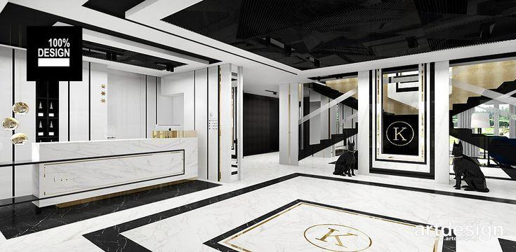 Hotel KONTRAST | Projekt recepcji hotelowej i lobby
