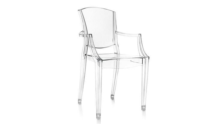 Transparent Schnauzern plaststol i polykarbonat. Stol, plast, polykarbonat, kök, vardagsrum, hall, sovrum, inredning, möbler. http://sweef.se/stolar/444-schnauzern-stol-i-polykarbonat.html