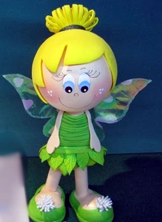 Como fazer lembrancinha Tinker Bell em EVA - Fofucha fadinha