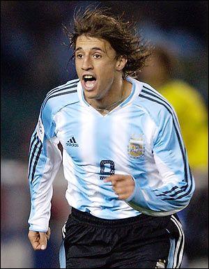 HERNAN CRESPO, Argentina National Team Striker 1995-2007.