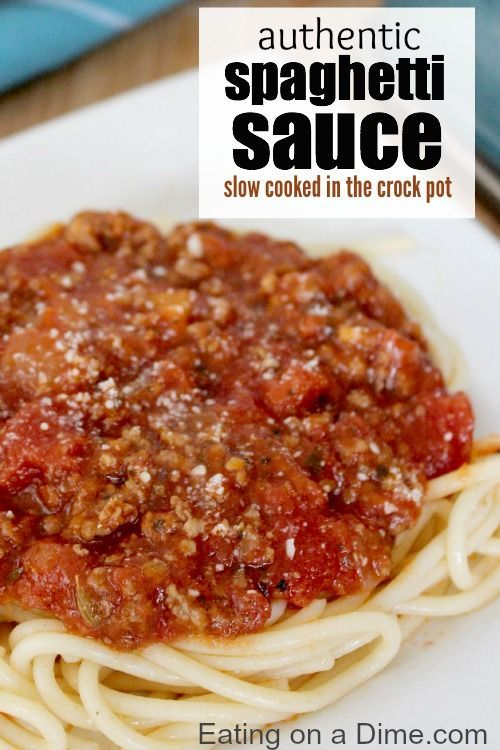 Crock Pot Spaghetti Sauce with meat is so easy to make. Save money with my easy tips on making your homemade sauce. We like to freeze it for future recipes.
