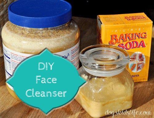 Face Cleanser: 1 T raw honey + 1 t baking soda
