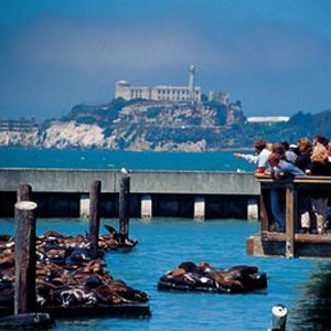 Alcatraz Island and Fisherman's Wharf, San Francisco, California. This was one of my favorite places in San Francisco.