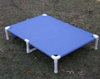 """Dog Bed Extra Large, Great Dane PVC Dog Cot With Middle Support, 11 CANVAS COLORS 38""""x55"""" Large To Smaller X Large Dogs Up To 160 Pounds."""
