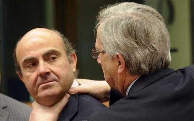 Luis de Guindos and Jean Claude Juncker