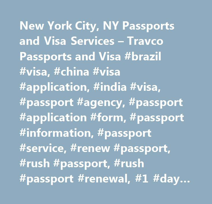 New York City Ny Passports And Visa Services  Travco Passports