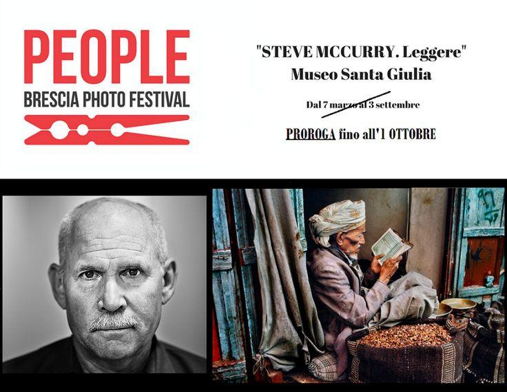 """Brescia, mostra """"Leggere"""" di Steve McCurry, 2017. Proroga 1 ottobre."""