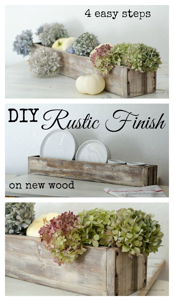 DIY Rustic Finish on New Wood in 4 Easy steps, FlowerPatchFarmhouse.com