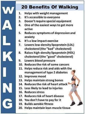 #Healthy_living_for body : 20 benefits of walking