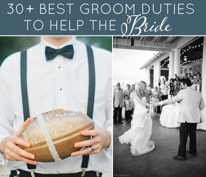 30+ Best Groom Duties That Will *Really* Help the Bride (photo: L- amy arrington | R- eric boneske)