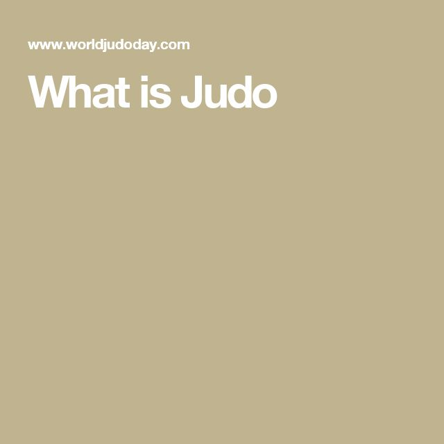 What is Judo