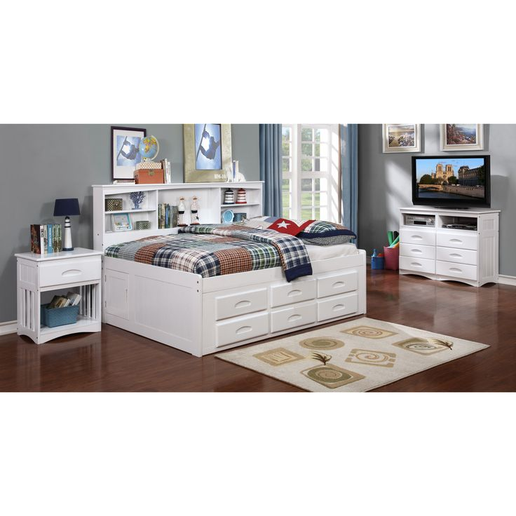 add style to your bedroom with the discovery world furniture white full bookcase daybed which includes full size storage bedunder