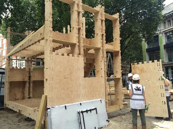 WikiHouseUK // WikiHouse v4.0 // The Building Centre @BuildingCentre The two-storey @WikiHouse with our fantastic team @ArupGroup and Zero Zero is coming together! For @L_D_F