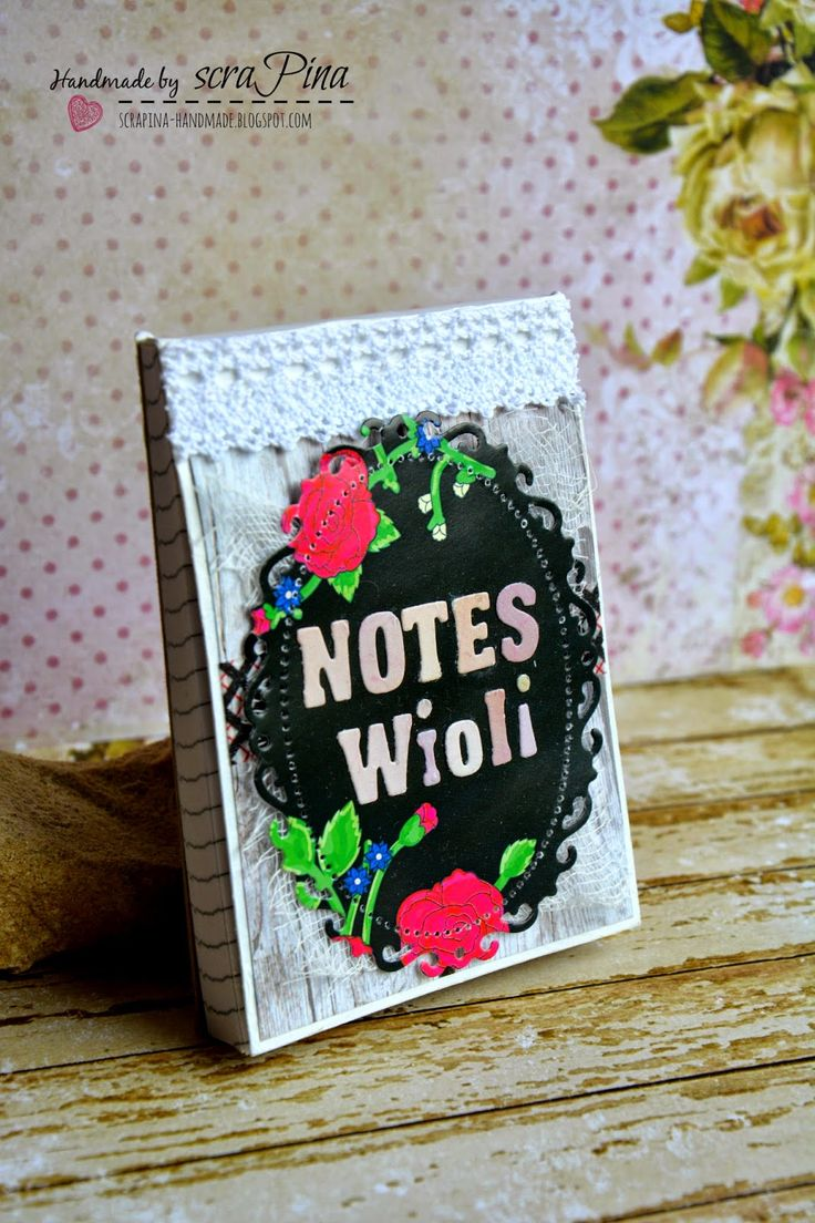 Mini notes scraPiny/ mini notebook made by scraPina