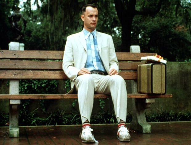 The most famous photos of cinema: 8ª) Forrest Gump.