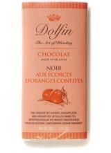 Dolfin 70g. Ciocolata neagra cu portocala confiata