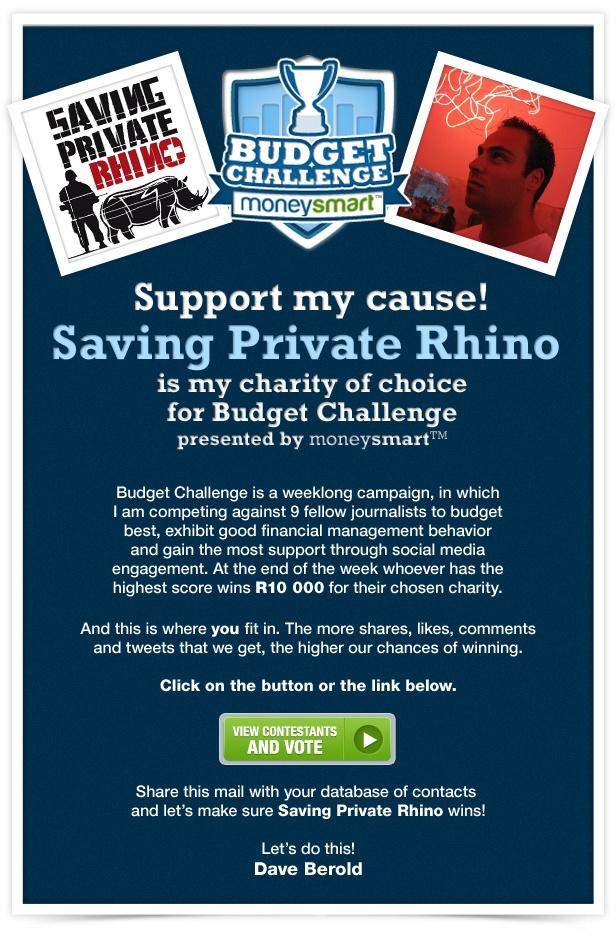 Contestant emailer in Budget Challenge presented by moneysmart
