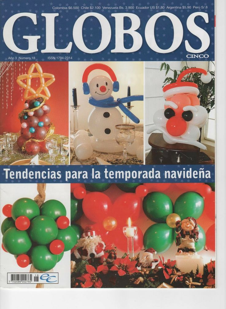 como hacer arreglo de globos navideño
