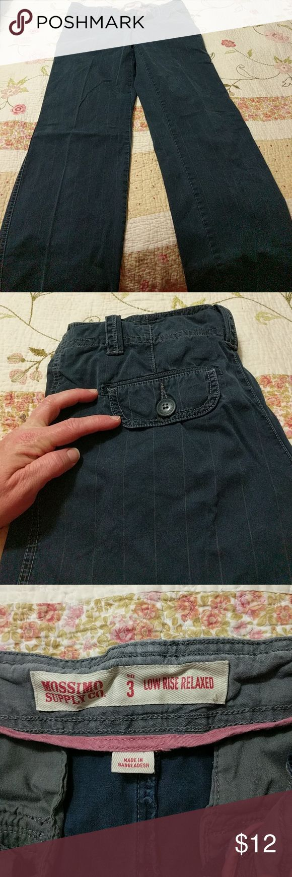 Navy blue dress pants Navy blue pinstripe dress pants excellent condition size 3 Mossimo Supply Co Pants Straight Leg