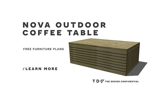 Free DIY Furniture Plans: How to Build Easy Outdoor Furniture with the Nova Coffee Table Project | The Design Confidential