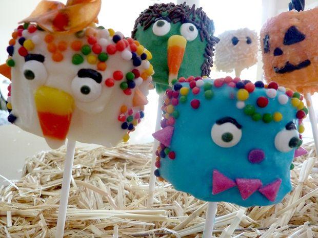 Marshmallow Monsters on parade. #Halloween #Treats
