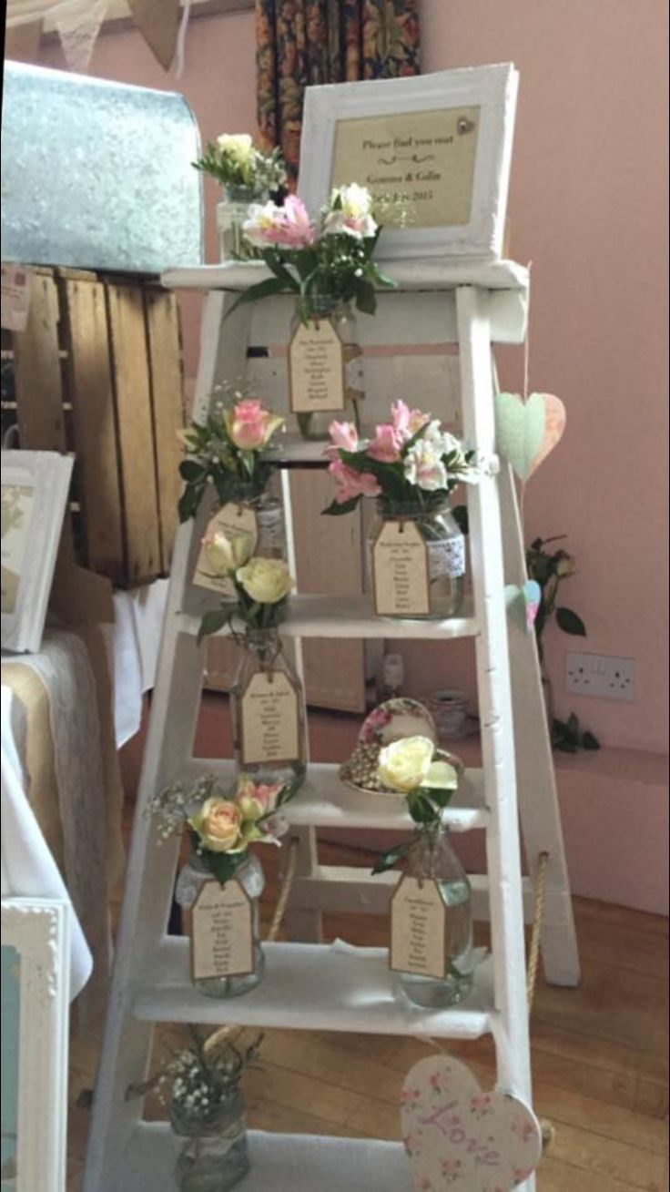 Our ladders make a great table plan too!