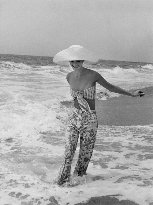 Diana Ewing wearing Lilly Pulitzer pants, California, July 1972.