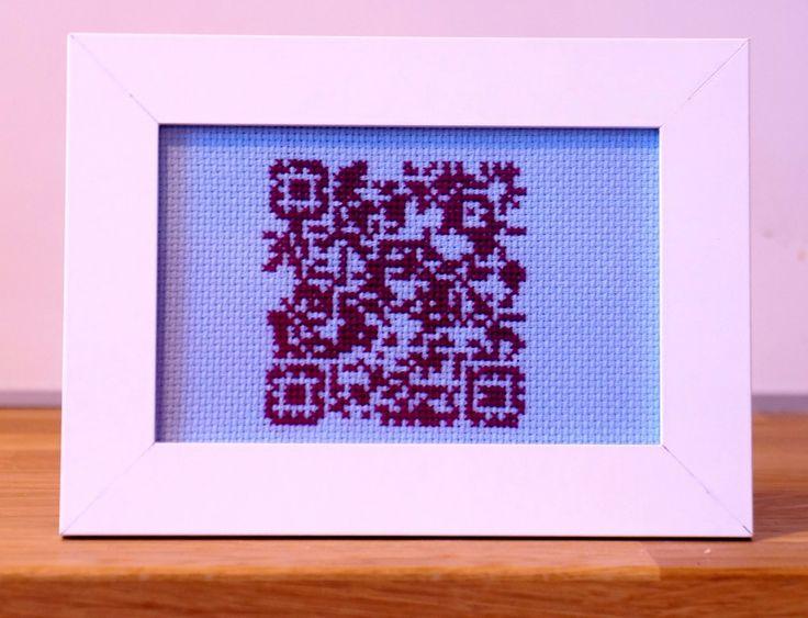 Code QR - untypical presentation of code I think