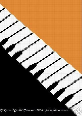 Crochet Patterns - PIANO color graph afghan pattern FOR SALE • $6.00 • See Photos! Money Back Guarantee. PIANO KEYBOARD Afghan Pattern Original graph pattern artwork © Karens*Cradle*Creations, 2008. All rights reserved. Up for auction is a GRAPH PATTERN that I created. This graph pattern will make a 180228576929