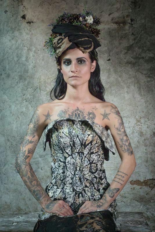 Fashion Shoot: Organic Gothic - Eluxe Magazine, Gothic, headpiece, fashion, eco, models