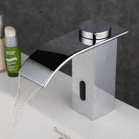 Salle de bains contemporaine en laiton robinet d'évier Chrome capteur automatique du capteur