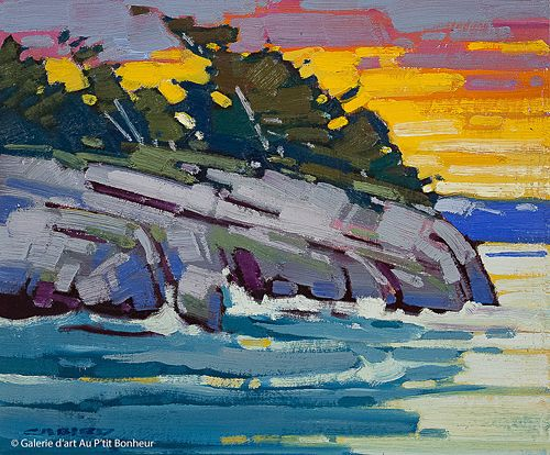 Cameron Bird, 'Evening Transition, Tofino', 10'' x 12'' | Galerie d'art - Au P'tit Bonheur - Art Gallery