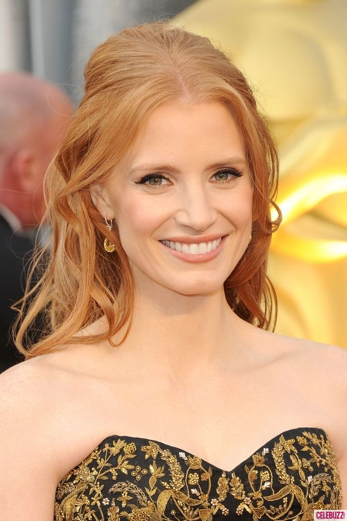 Strawberry Blonde-rJessica Chastain, Hair Colors, Hair Wigs, Red Hair, Hair Beauty, 2012 Oscars, Redheads, Makeup Hair Beautiful, Red Head