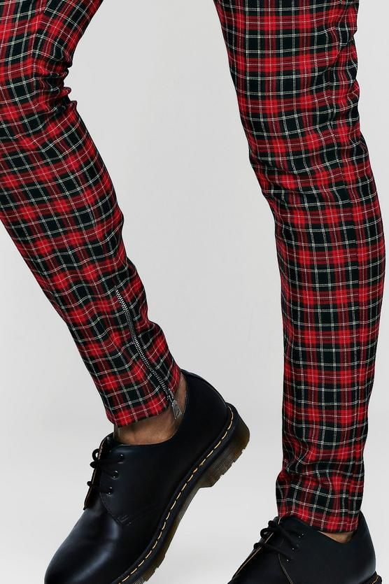 63c9aa4cca79 Tartan Smart Trouser With Zip Ankle Detail in 2019 | HEM DETAILS ...