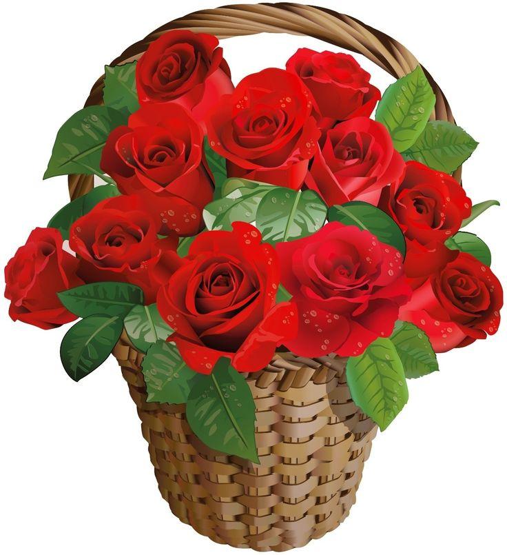 Basket of red roses - Piros rózsák kosárban - Megaport Media