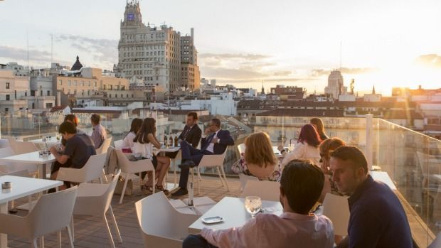 From rooftop pools to rooftop bars, here are six of the best hip Madrid hotels.