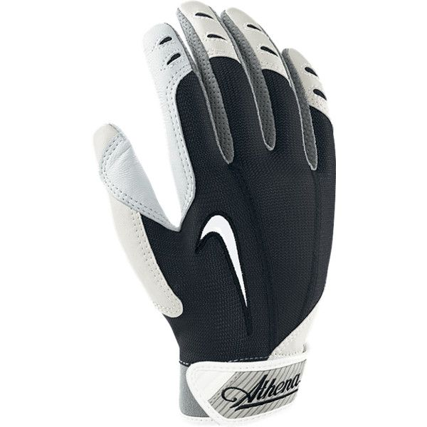 Nike Athena Softball Batting Gloves - White, L (£13) ❤ liked on Polyvore featuring baseball & softball gloves & mitts