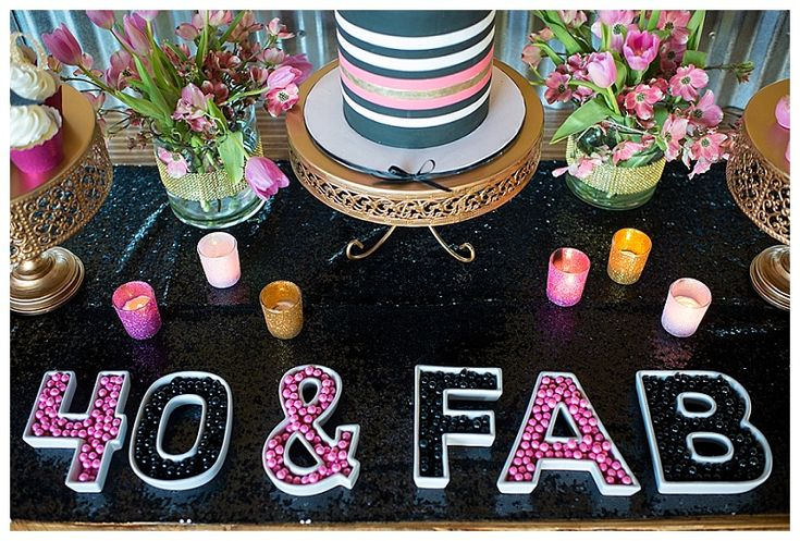 A Glamorous 40th Birthday Party | Hoopla Events | Krista O'Byrne