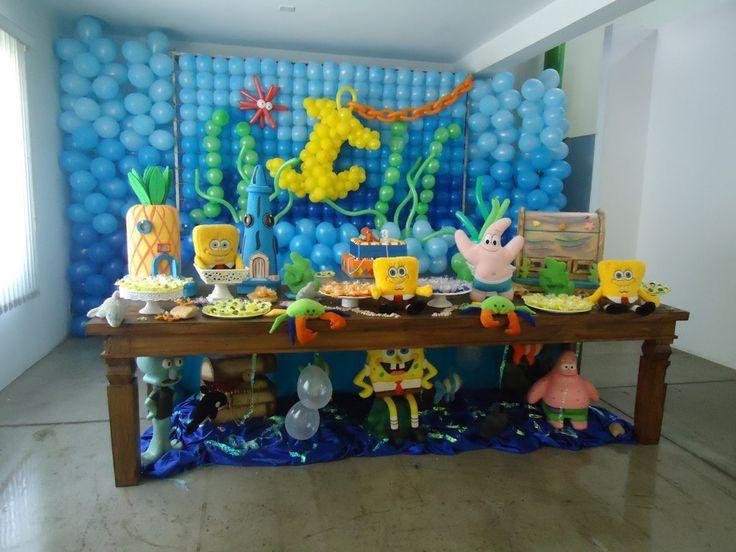 Decoração Bob Esponja para Festa de Aniversário infantil