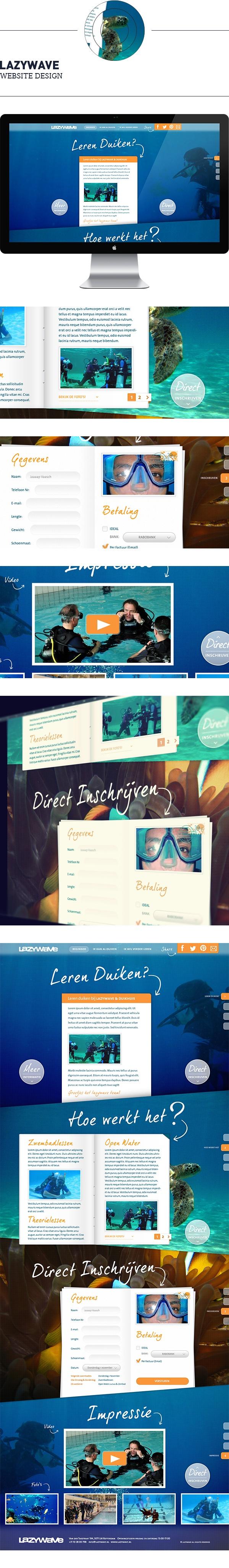 Lazywave - Duiklessen.nl on Behance