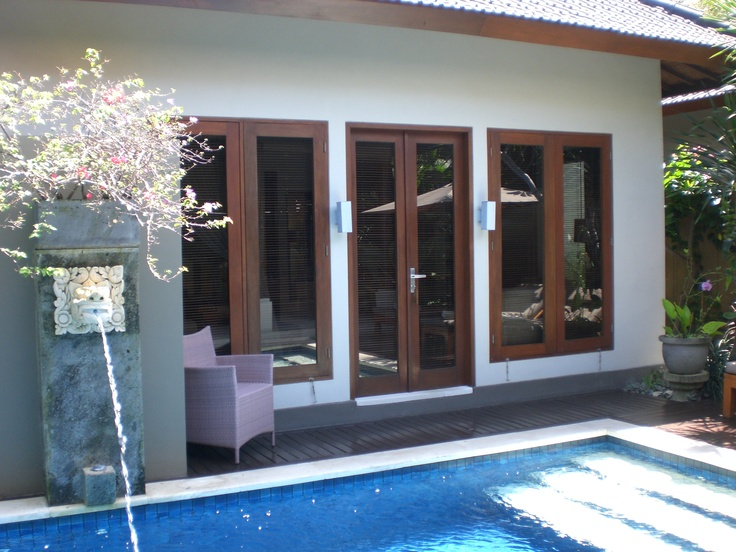 View to sleeping pavilion in one of the luxury Lakshmi Villas.
