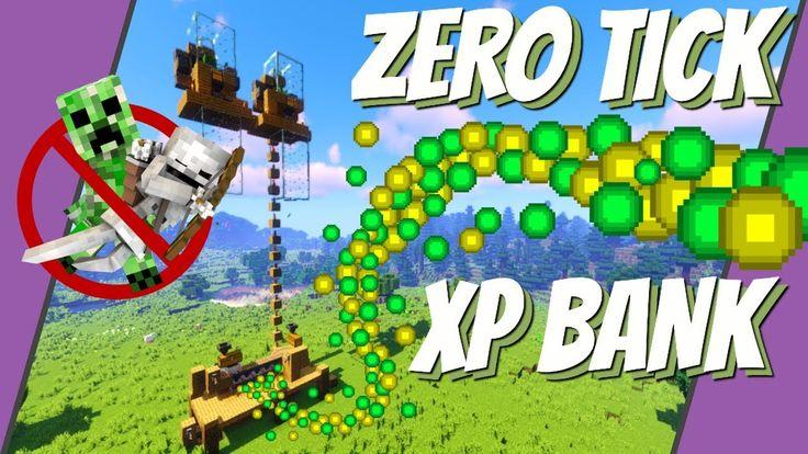 Minecraft Xp Farm No Mob Xp Bank Zero Tick Farm Minecraft 1 14 Xp Wh In 2020 Minecraft 1 Minecraft Ticks